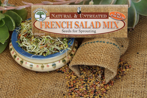 FRENCH SALAD MIX - Sprouting Seeds - Natureal & Untreated - Microgreens