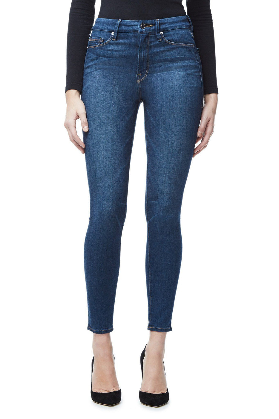 Good American Super High Waisted Blue013 Jeans