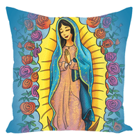 Our Lady Of Guadalupe/Hail Mary Prayer Throw Pillow