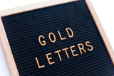 "GOLD 1"" LETTERS - 290 CHARACTER LETTER SET - RIVI co. letter boards"