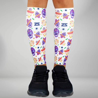 Day Of The Dead Doodle Compression Leg Sleeves