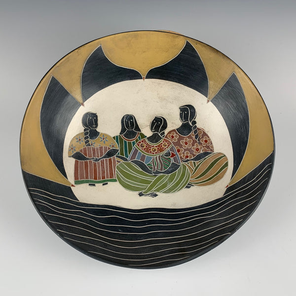 Melissa Greene decorative bowl, Talking By The River