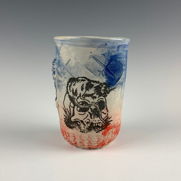 Ehren Tool cup, rat and skull