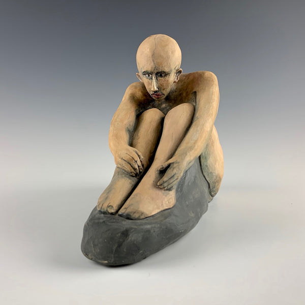 "Michael Padgett ""Crouched figure #3"""