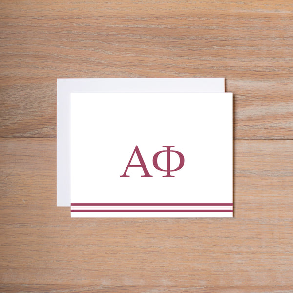 Alpha Phi Preppy Sorority Note Card
