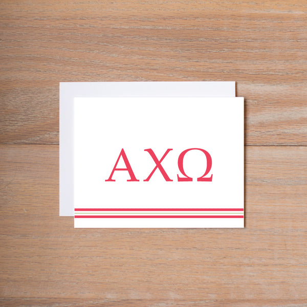 Alpha Chi Omega Preppy Sorority Note Cards