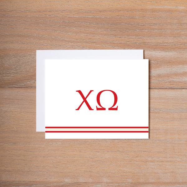 Chi Omega Preppy Sorority Note Cards