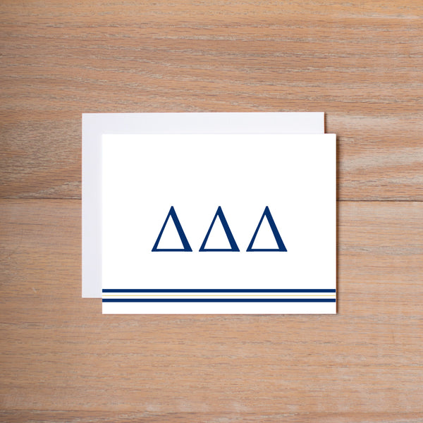 Delta Delta Delta Preppy Sorority Note Cards