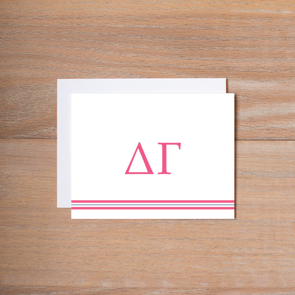 Delta Gamma Preppy Sorority Note Cards