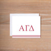 Alpha Gamma Delta Preppy Sorority Note Card