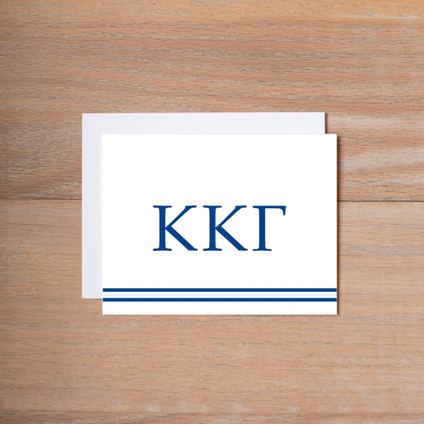 Kappa Kappa Gamma Preppy Sorority Note Cards