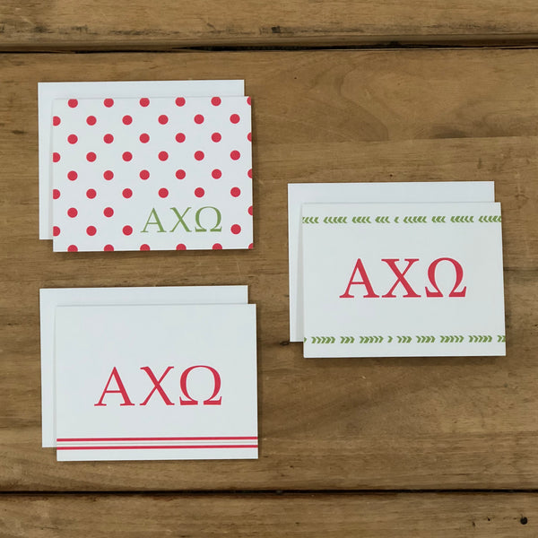 Alpha Chi Omega Mixed Greek Note Cards