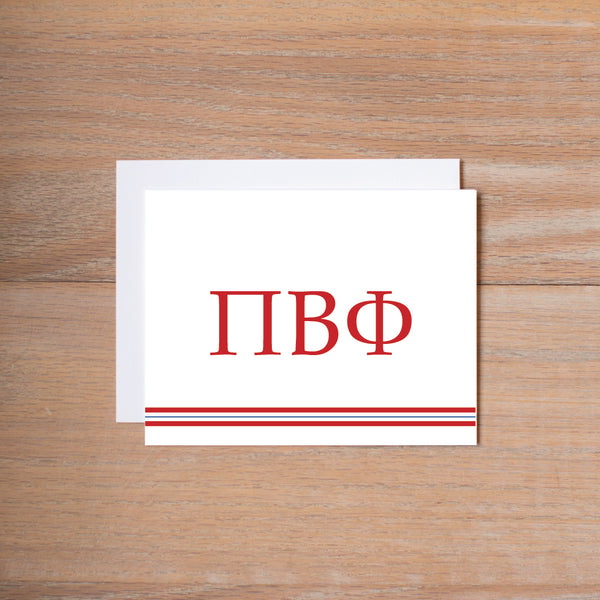 Pi Beta Phi Preppy Sorority Note Cards