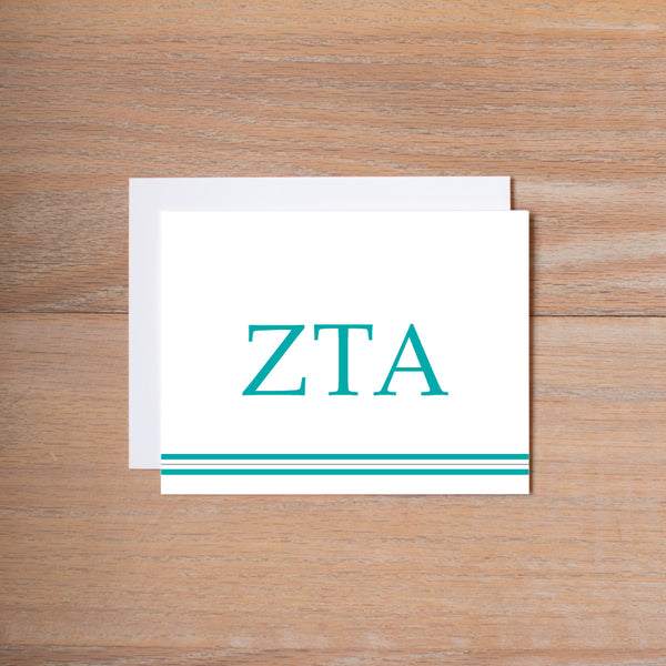 Zeta Tau Alpha Preppy Sorority Note Cards