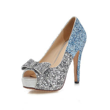 Sequin High heels Open Toe Pumps - Bella LaVie Collection