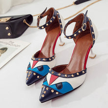 Women Rivet Mid Thin Heels Pumps - Bella LaVie Collection