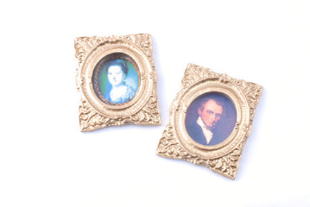 Oval Portraits In A Gilt Frame
