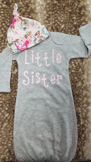 Baby Gown - Little Sister Going Home Outfit