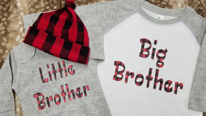 Big Brother Shirt - Red Black Check
