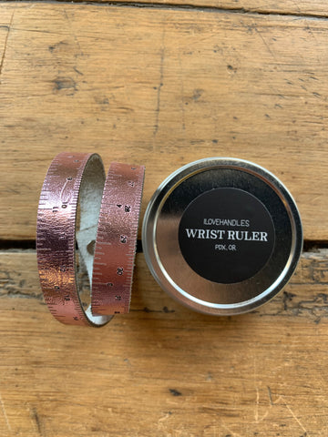 Rose Gold Metallic Wrist Ruler