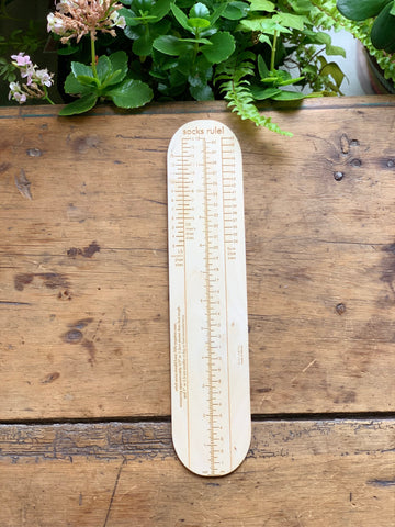Katrinkles Sock Ruler Custom Chelsea Yarns