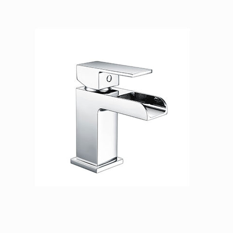 Max Waterfall Basin Mixer with Sprung Waste