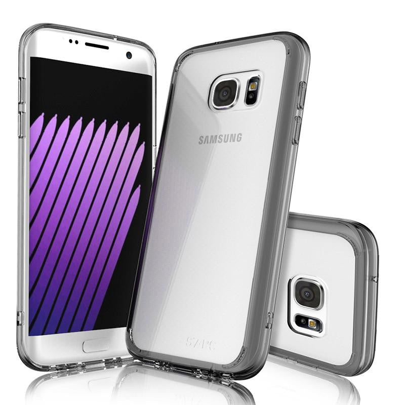 Slim Fusion For Samsung Galaxy S7 Case Clear Silicone Transparent Hard Back Cover For Samsung Galaxy S7 Edge Case Cover Artisome
