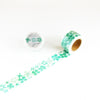 Round Top x ChamilGarden Flower Green Washi Tape