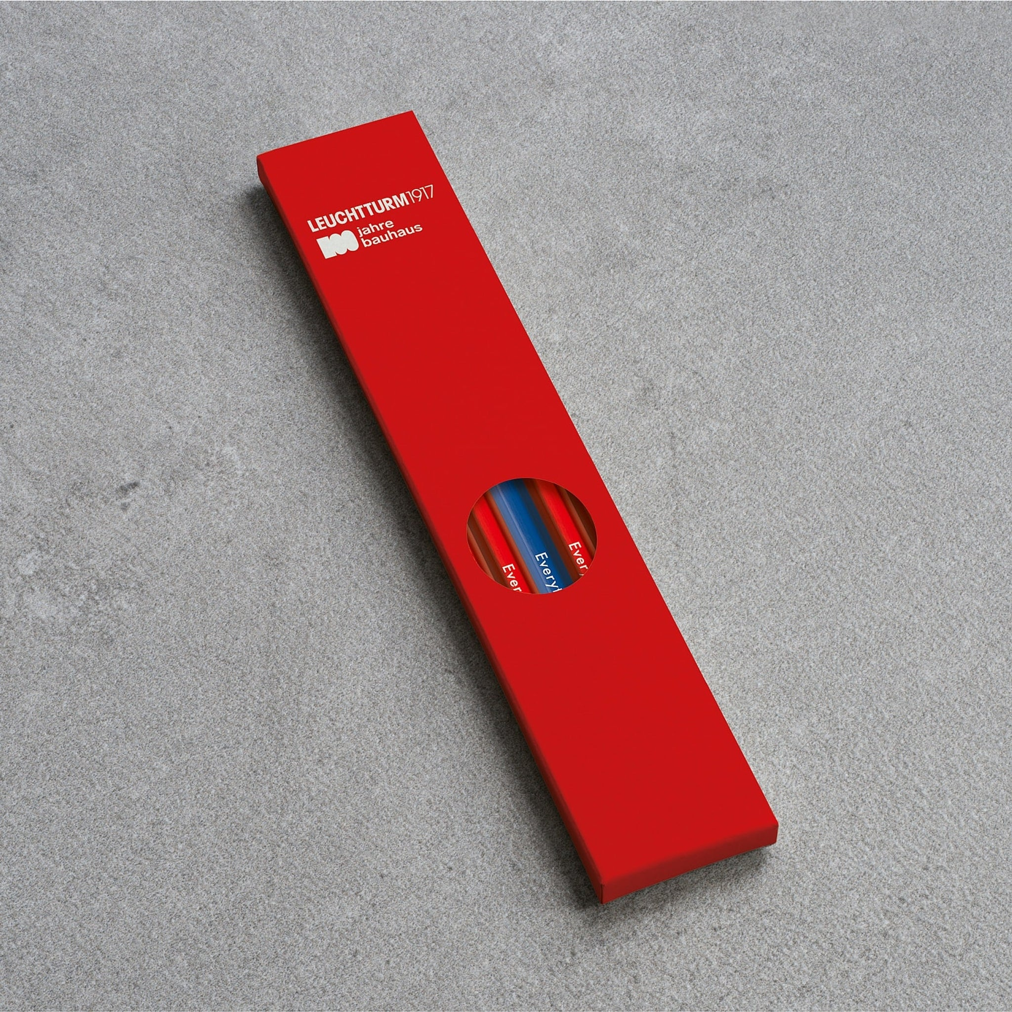 Leuchtturm1917 Bauhaus 100 Pencil Assorted Unit (4xRed, 1xRoyal Blue)