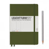 Leuchtturm1917 Hardcover A5 Medium Notebook Army - Plain