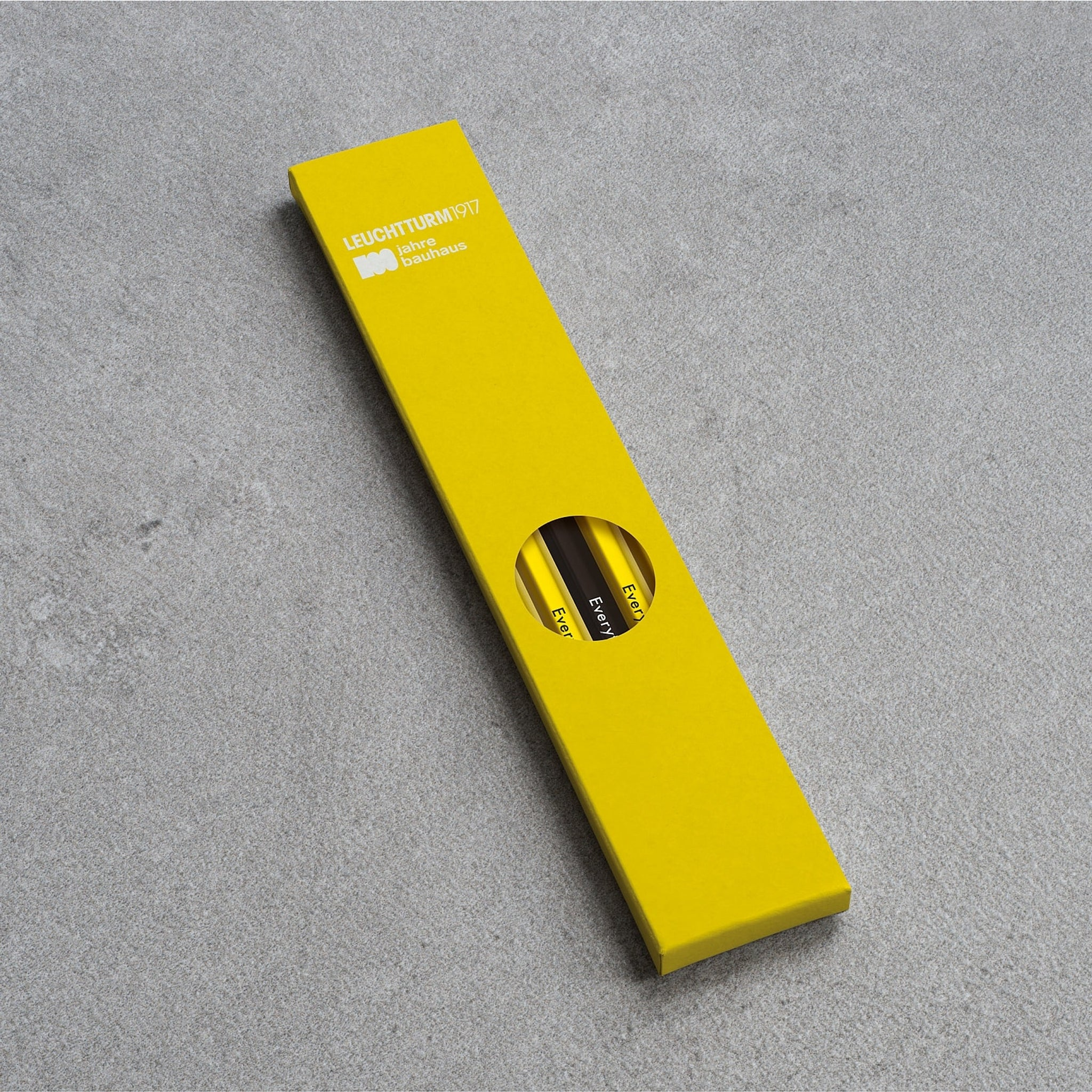 Leuchtturm1917 Bauhaus 100 Pencil Assorted Unit (4xLemon, 1xBlack)