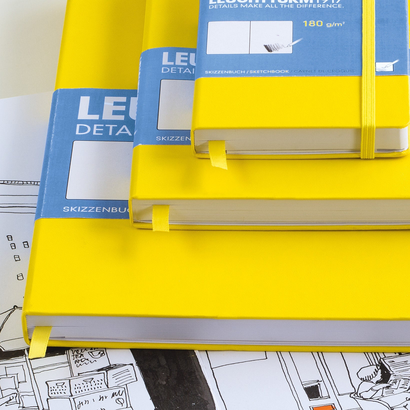 Leuchtturm1917 Hardcover A5 Medium Sketchbook Lemon