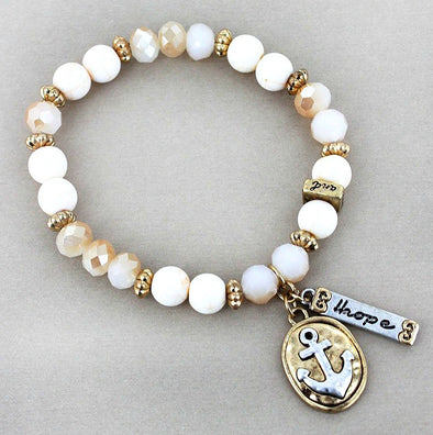 Anchor of Hope Beaded Bracelet