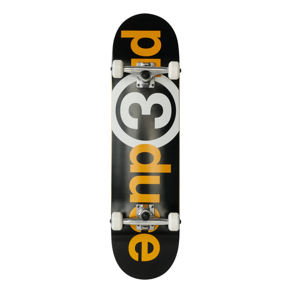 Preduce OG Logo Black/Yellow/White Skateboard Complete 8.0