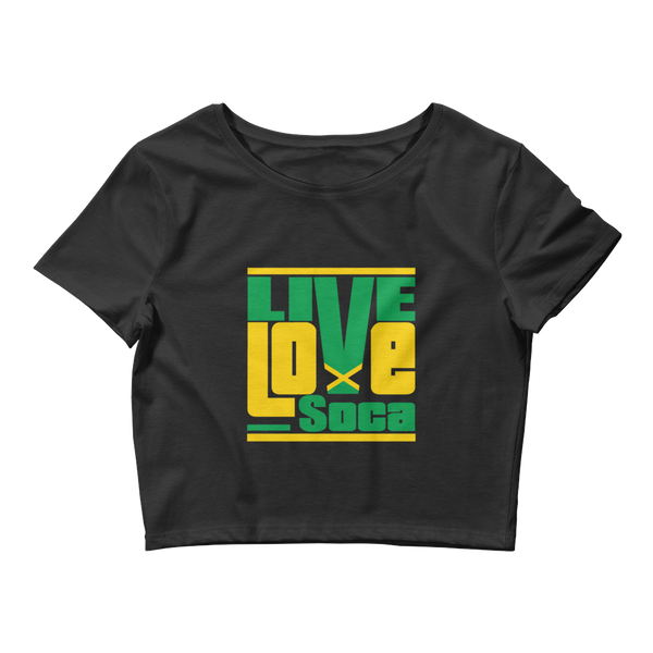 Jamaica Islands Edition Womens Black Crop Tee - Fitted - Live Love Soca Clothing & Accessories
