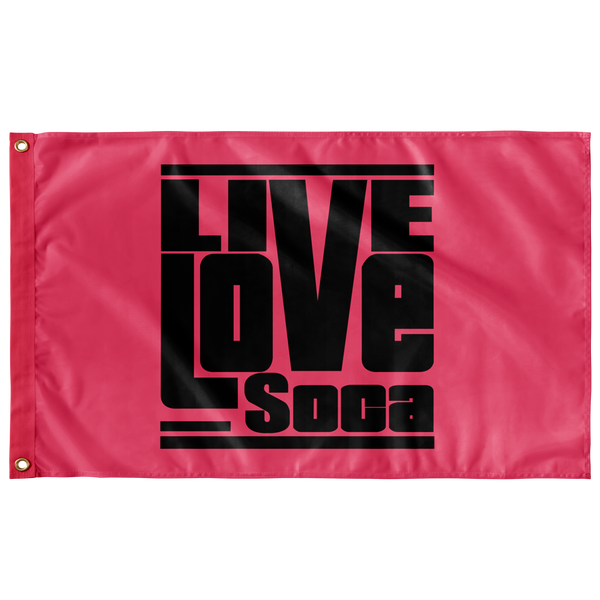 HOT PINK FLAG - Live Love Soca Clothing & Accessories