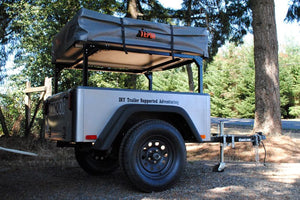 Trailer Rack on Jeep Trailer