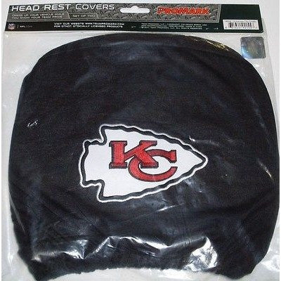 NFL Kansas City Chiefs Headrest Cover Embroidered Logo Set of 2 by Team ProMark