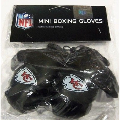 NFL Kansas City Chiefs 4 Inch Rear View Mirror Mini Boxing Gloves