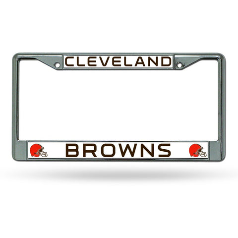 NFL Cleveland Browns Chrome License Plate Frame Thin Letters