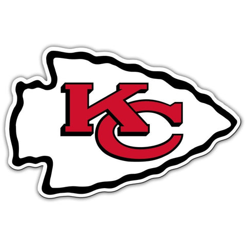 NFL 12 INCH AUTO MAGNET KANSAS CITY CHIEFS CURRENT LOGO