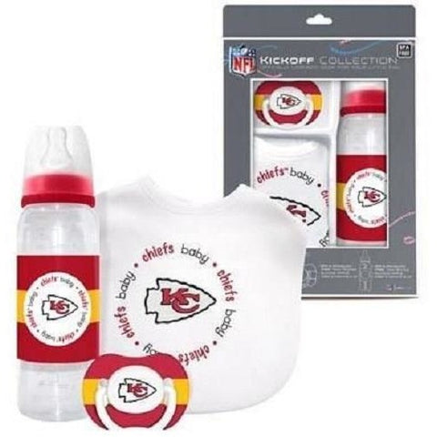 NFL Kansas City Chiefs Gift Set Bottle Bib Pacifier by baby fanatic