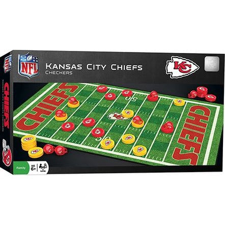 NFL Kansas City Chiefs Checkers Game by Masterpieces Puzzles Co.
