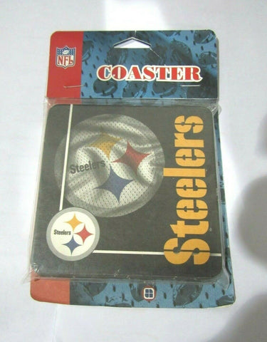 NFL Pittsburgh Steelers Logo on Jersey Image Thick Paper Coasters 6 Pack