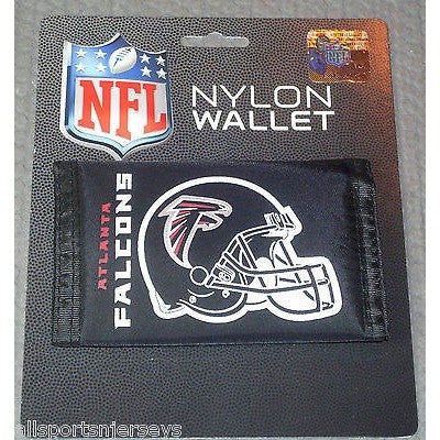 NFL Atlanta Falcons Tri-fold Nylon Wallet with Printed Helmet