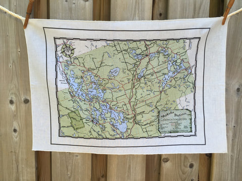 Muskoka Lakes District Vintage Tea Towel