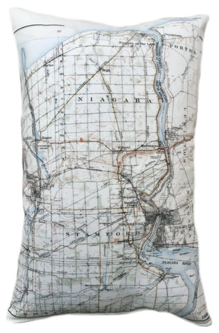 Niagara Vintage Map Pillow