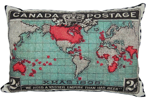 Vintage Canada Stamp Pillow