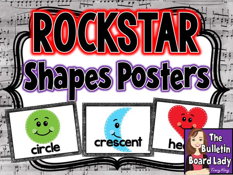 Shapes Posters Rock Star Theme