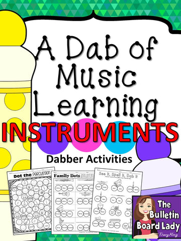Dabber Activities for Music Class – Instruments